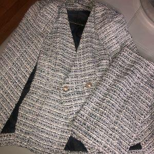 Tweed Cape Set Black / White